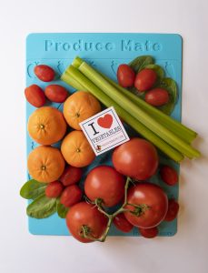 Produce Mate mat loaded with veggies
